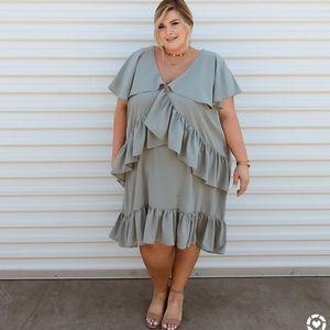 ASOS Ruffle Trim Shift Dress